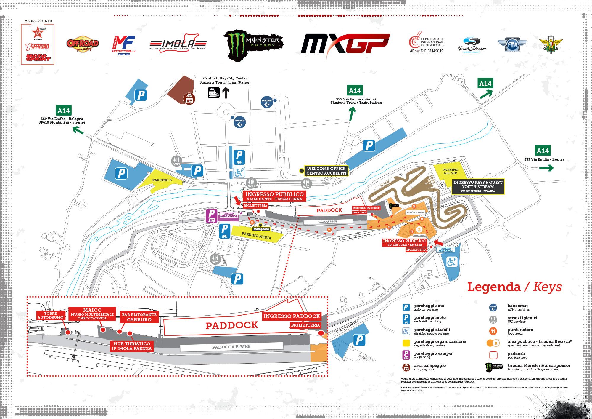 Mappa Servizi e Parcheggi MXGP