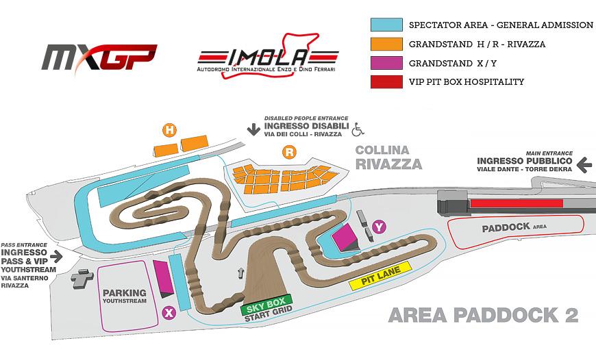 MXGP Grandstand Map